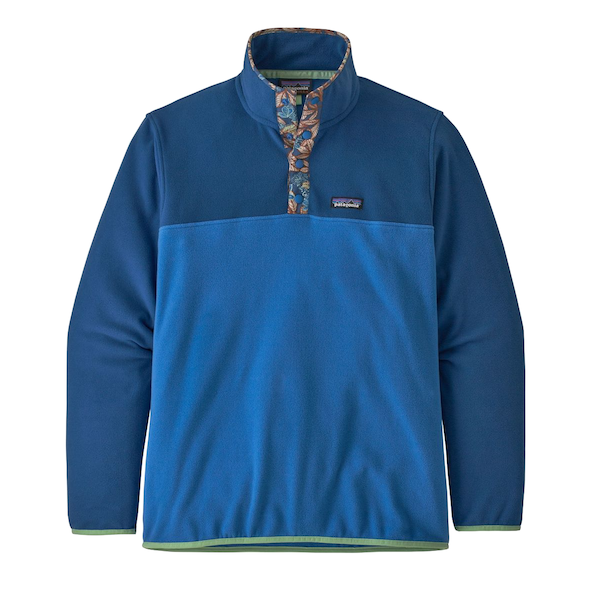 Men's Micro D Snap-T Pull Over  Bayou Blue