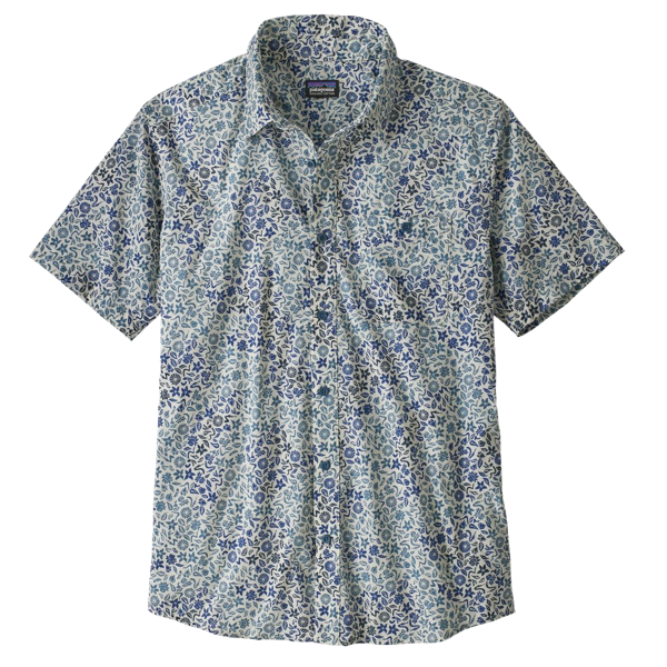 MENS GO TO SHIRT COVER CROP OMBRE PIGEON BLUE