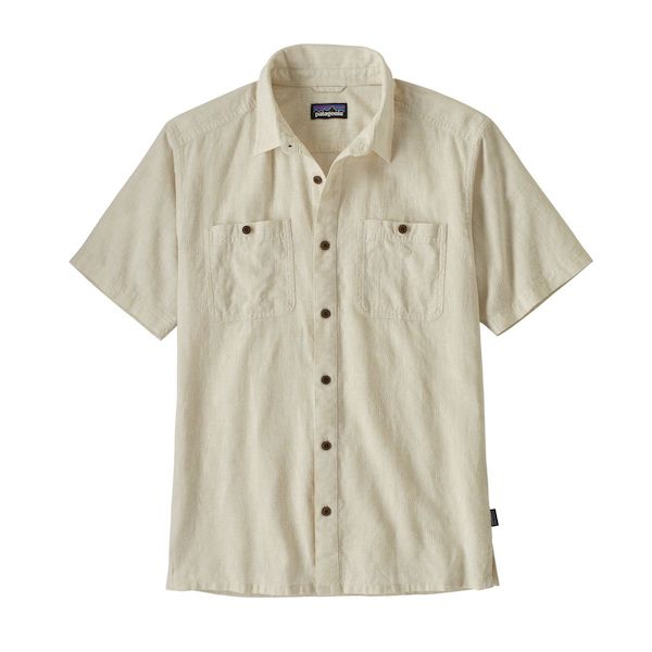 Men's Back Step Shirt - Goshawk Dobby: Pumice