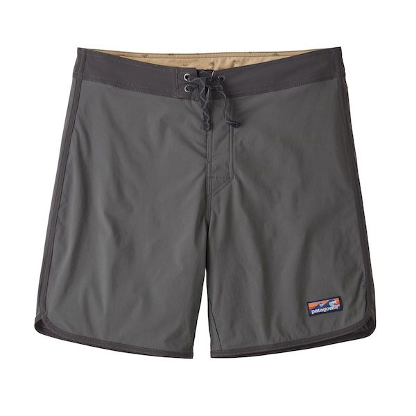Men's Scallop Hem Stretch Wavefarer Boardshorts - 18 In - Forge Grey