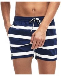 LACOSTE NAVY STRIPE SHORT