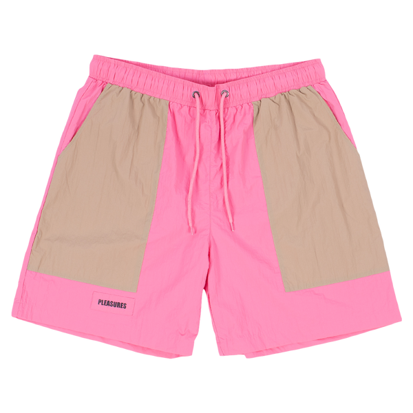 PLEASURES SPEEDWAY SHORT  PINK/TAN