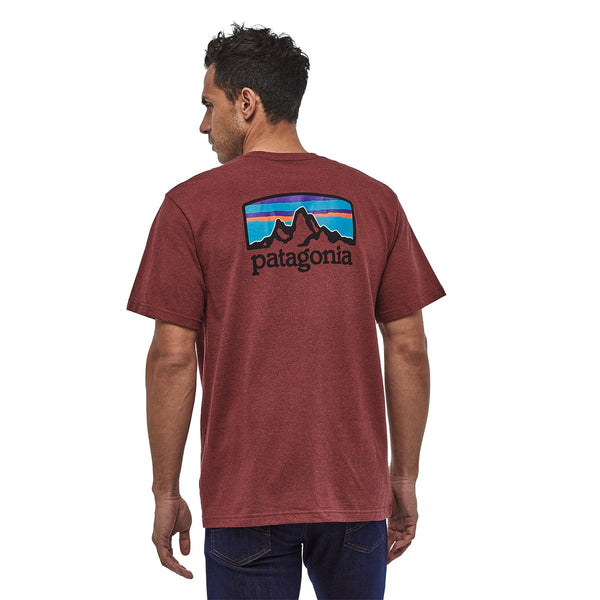 M'S FITZ ROY HORIZONS RESPONSIBILL-TEE OXIDE RED