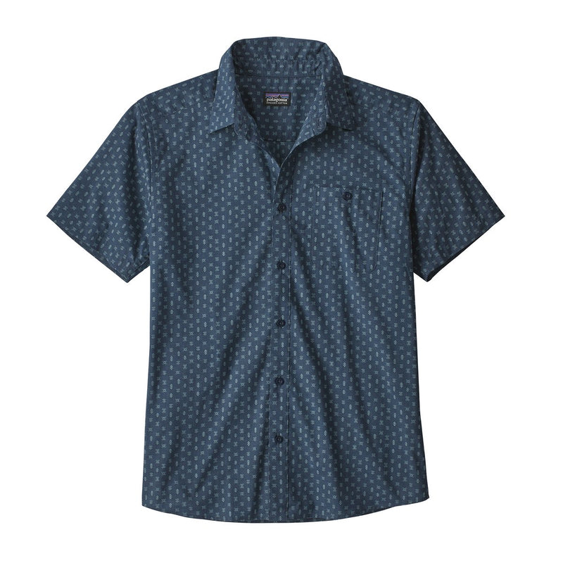 MENS GO TO SHIRT SPACE MICRO STONE BLUE