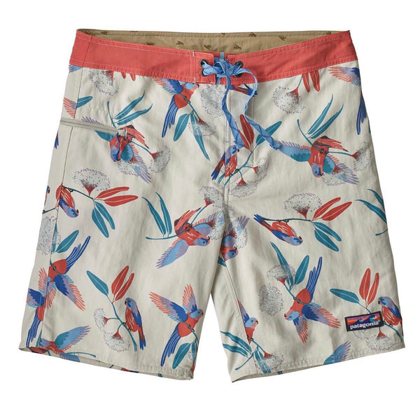 Men's Wavefarer Boardshorts - 19 In. PARRROTS DYNO WHITE