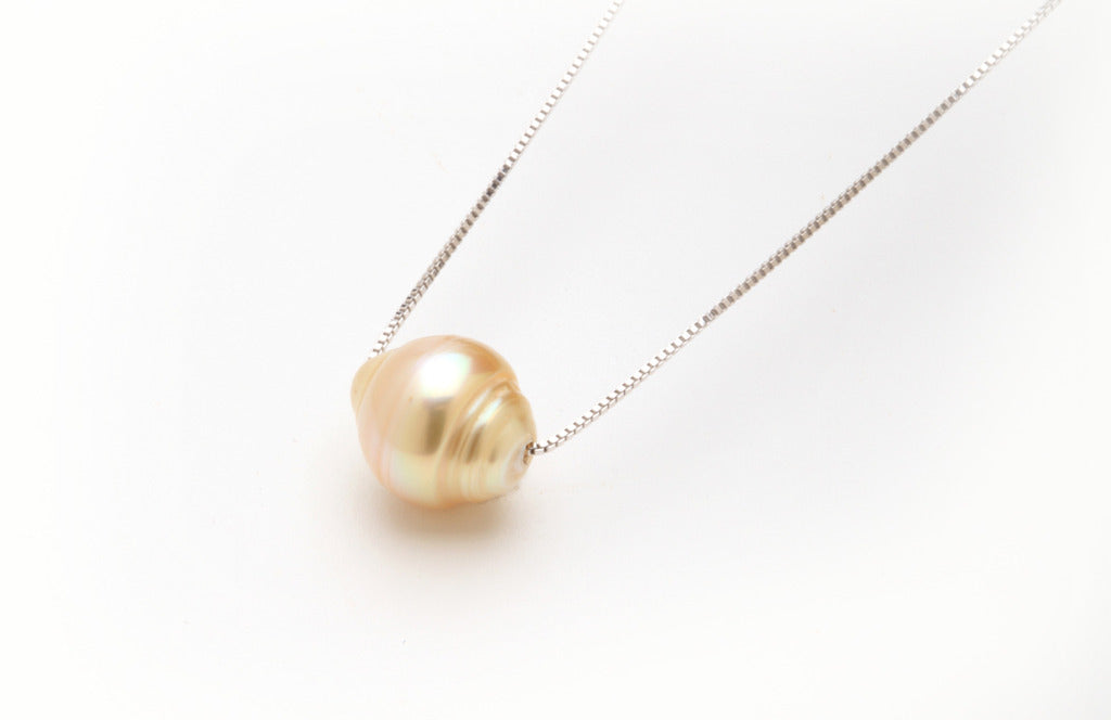 Champagne Circled South Sea Floating pendant