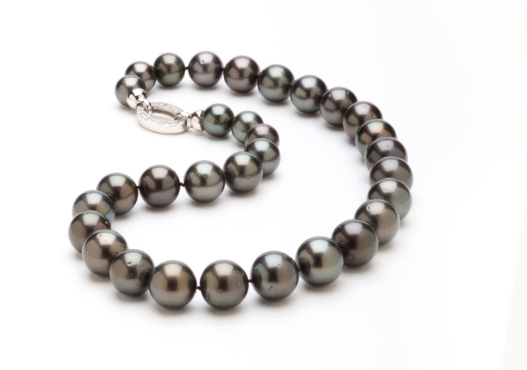 'Telephone Black' Tahitian Bauble Necklace