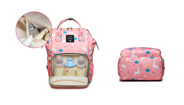 Rainbow Collection Unicorn Baby Care Diaper Bag Backpack 2