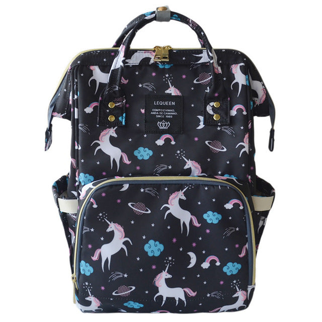 Lucky Unicorn Rainbow Collection Baby Maternity Diaper Bag