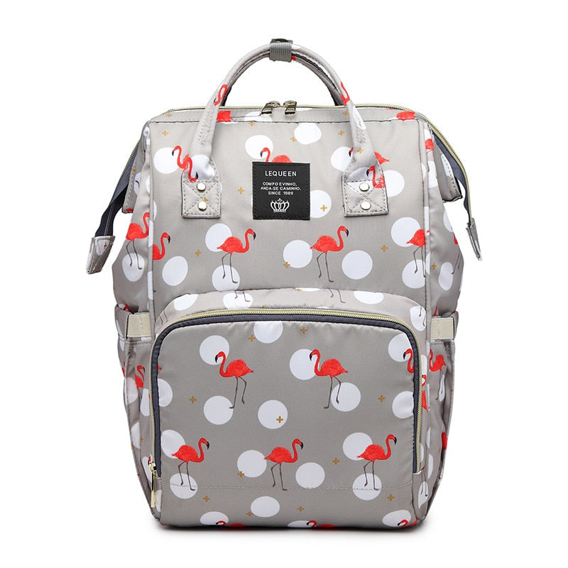 Fancy Flamingo Miami Collection Maternity Baby Care 3 Bottle Diaper Bag