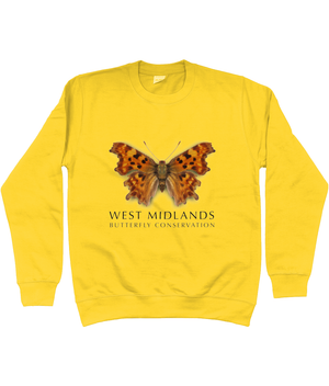 West Midlands Comma Butterfly, Adult (Unisex) Sweater