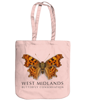 West Midlands Comma Butterfly, 100% Organic Cotton, Tote Bag
