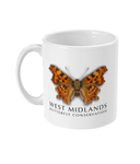 West Midlands Comma Butterfly, Mug