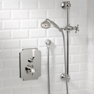 "Coventry Brassworks Concealed Thermostatic System with 24"" Slide Bar and Standard Hand Shower with Cross Handle"