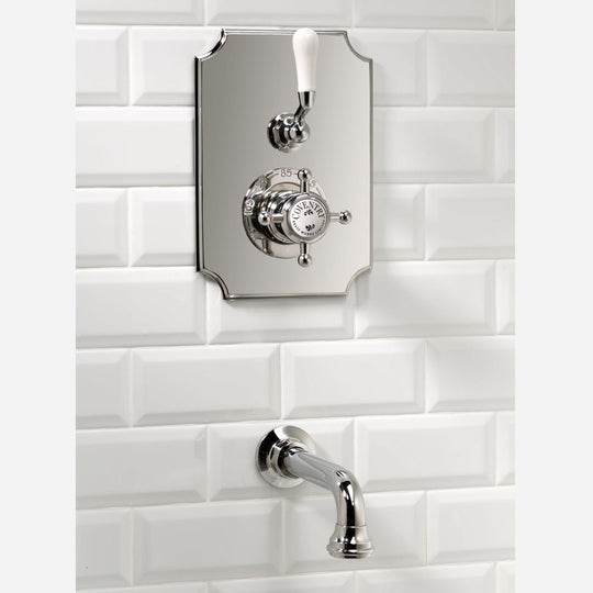 Concealed Thermostatic System with Wall Mount Tub Spout