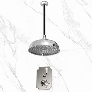 "Coventry Brassworks Concealed Thermostatic Shower System with 18"" Ceiling Mount Shower Arm and 12"" Shower Head"