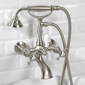"3/4"" Wall Mounted Telephone Hand Shower with Tub Spout"