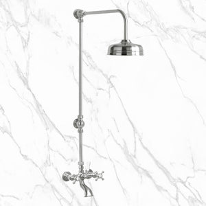 "Coventry Brassworks 1/2"" Exposed Two Valve Tub and Shower with 8"" Shower Head"