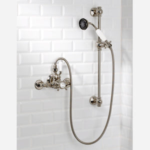 "Coventry Brassworks 3/4"" Exposed Thermostatic Shower System with 24"" Slide Bar and Standard Hand Shower with Cross Handle"