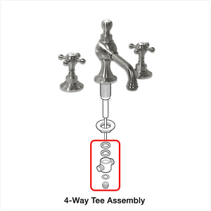 4-Way Tee Assembly for Coventry Brassworks Widespread Lavatory Faucet
