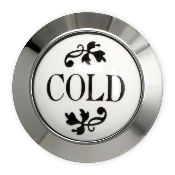 Coventry Brassworks Ceramic Cold Button with Metal Ring 88.01.201