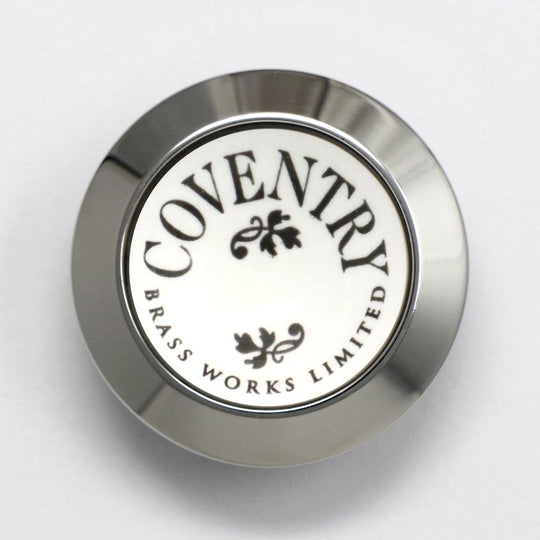 Coventry Brassworks Ceramic Button with Metal Ring 88.01.207