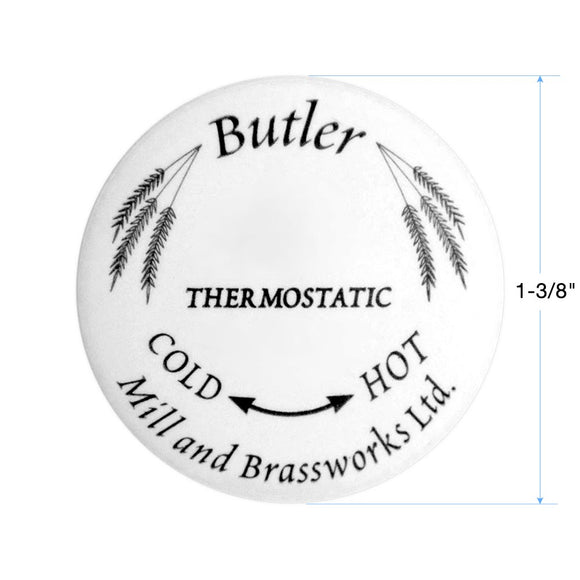 Butler Mill and Brassworks Ceramic Button 1-3/8