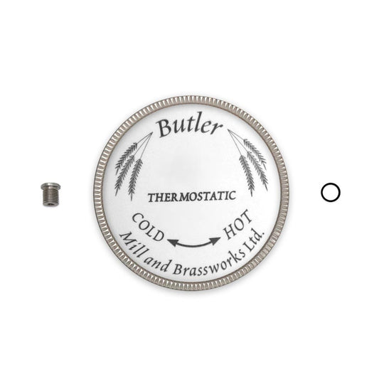 Butler Mill and Brassworks Button Assembly with Metal Ring for 3/4