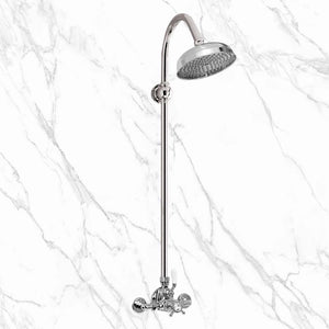 "Coventry Brassworks 3/4"" Exposed Thermostatic Shower with Arched Shower Arm and 8"" Shower Head"