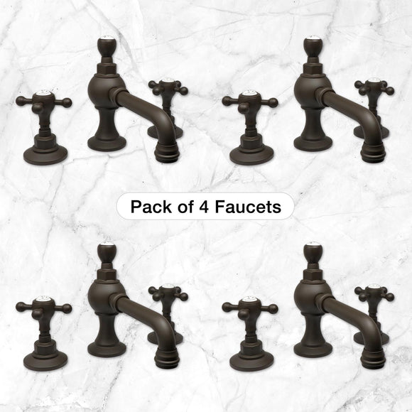 Pack of 4 Pembroke Lavatory Faucets in Oil Rubbed Bronze