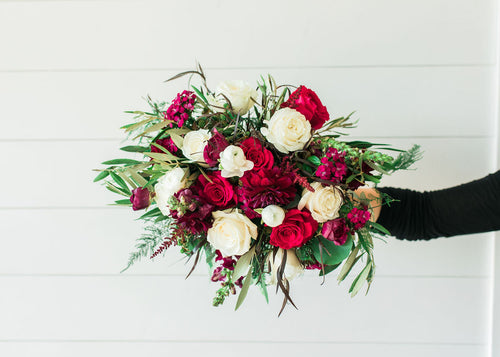 Bridal Bouquet - Jeweled Berry - Lush