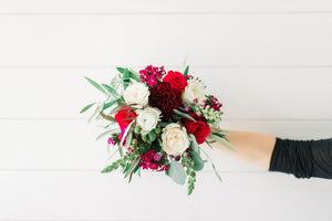 Bridesmaid Bouquet - Jeweled Berry - Lush