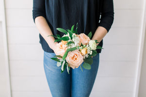 Bridesmaid Bouquet - Peachy Keen - Classic