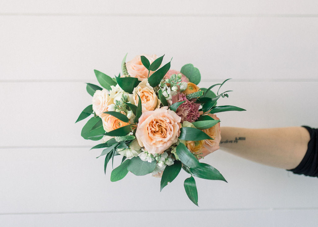 Bridesmaid Bouquet - Peachy Keen - Lush