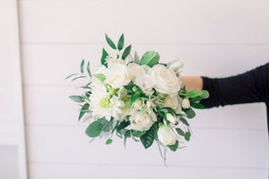 Bridesmaid Bouquet - White Out - Lush