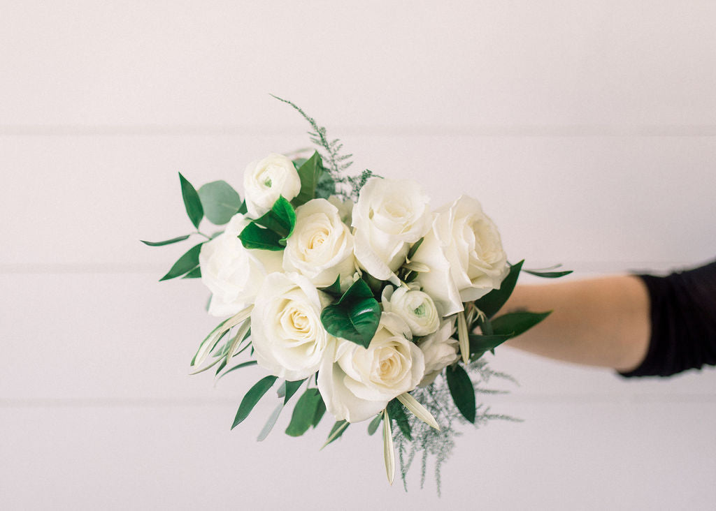 Bridesmaid Bouquet - White Out - Classic