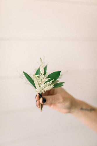 Boutonniere - White Out - Textural