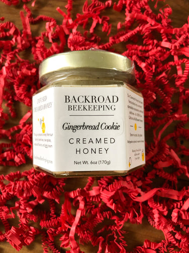 Backroad Beekeeping - Gingerbread Cookie Creamed Honey