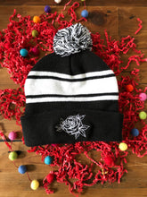 Load image into Gallery viewer, Floral Pom Pom Beanie Hat