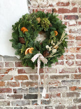 Load image into Gallery viewer, Wreath with Citrus & Dried Floral Accents