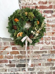 Wreath with Citrus & Dried Floral Accents