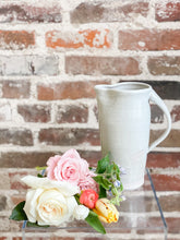Load image into Gallery viewer, R&M Pottery Pitcher & Florals