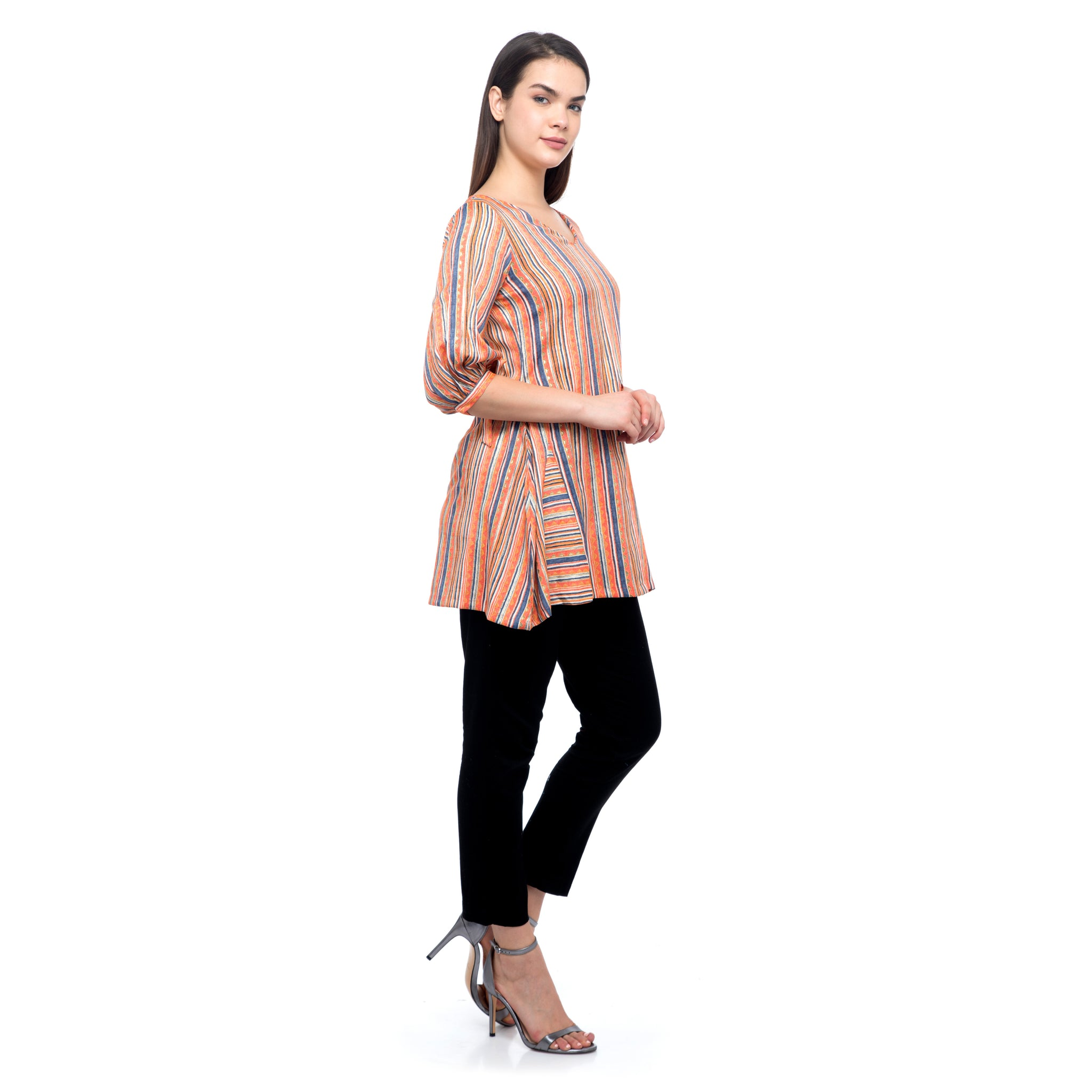 ORANGE SHORT KURTI
