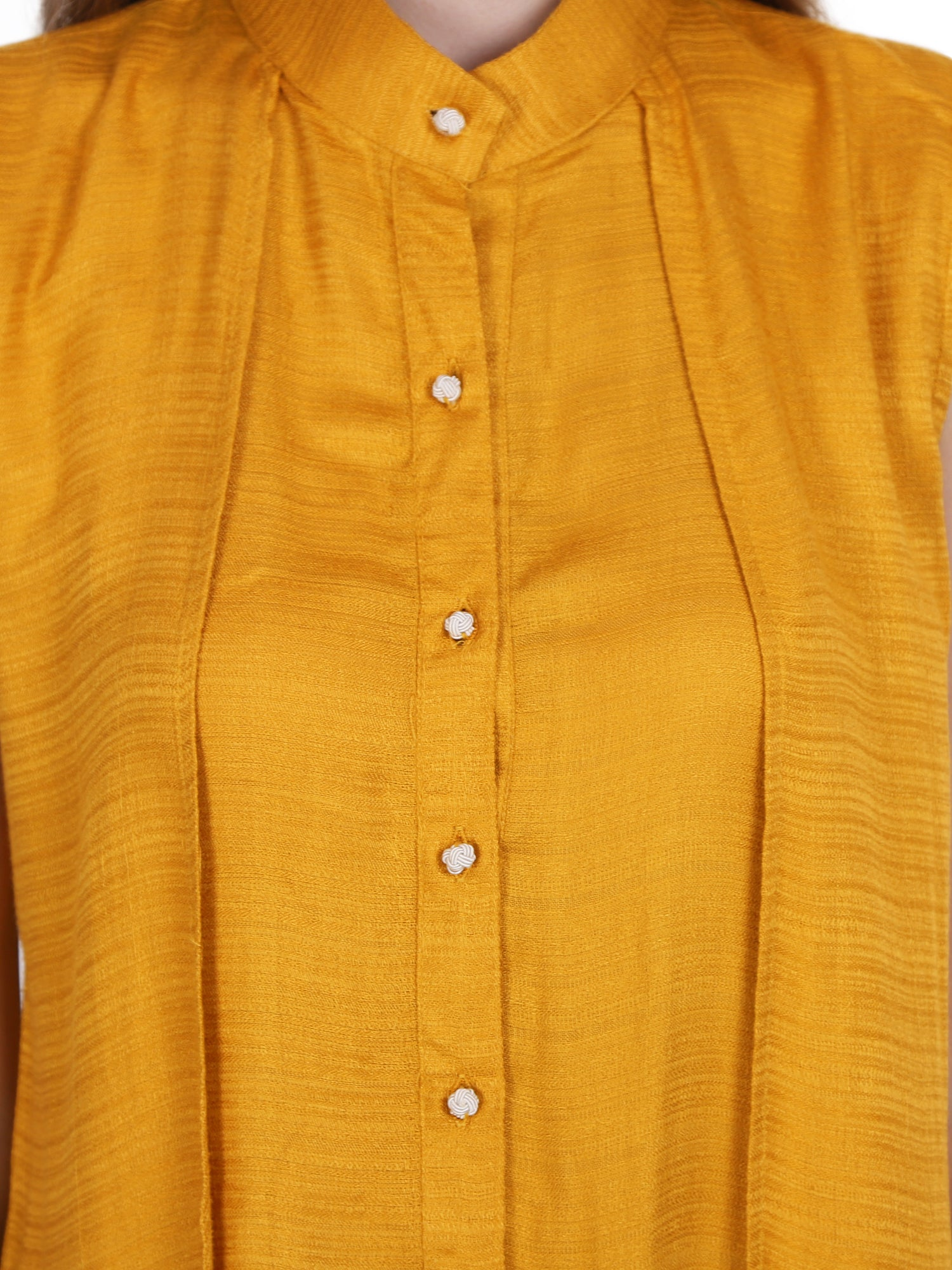 MUSTARD SOLID LONG TOP