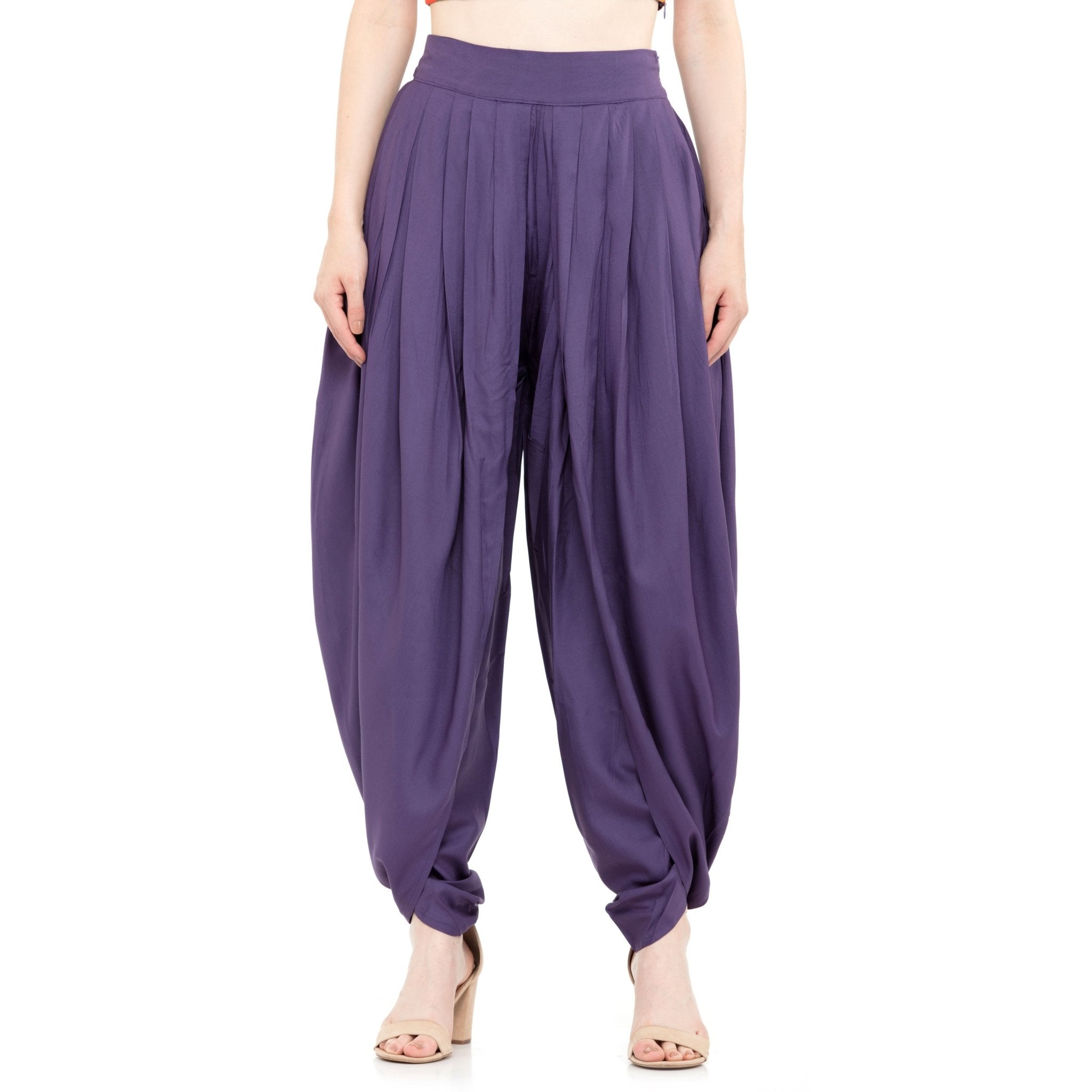 SOLID PURPLE TULIP DHOTI - ZOMO