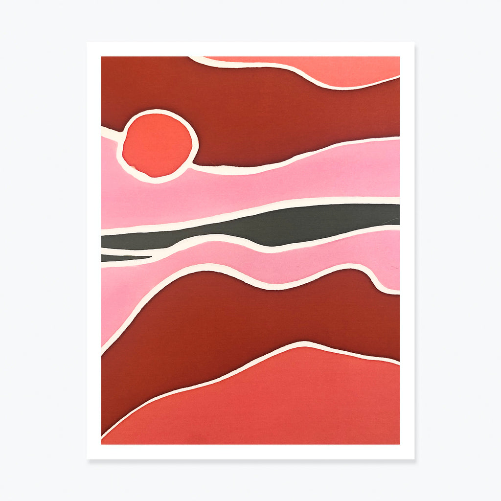 Desert Sunset, Limited Edition Art Print, 2020