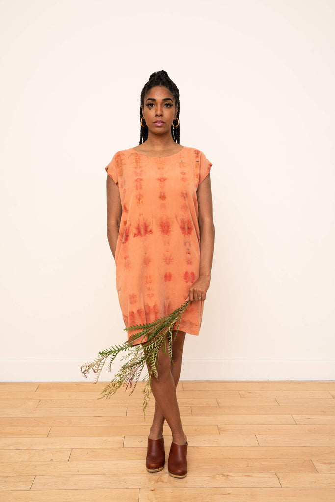 Laguna Shift Dress in Ikat Melon
