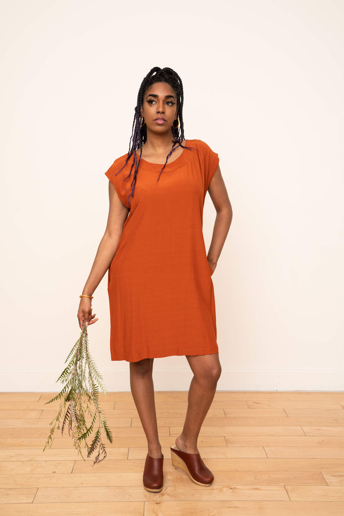 Laguna Shift Dress in Rust