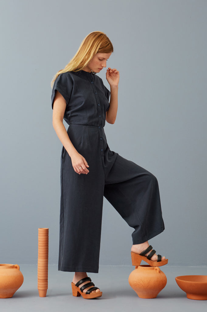 Mary Jo Jumpsuit in Fossil