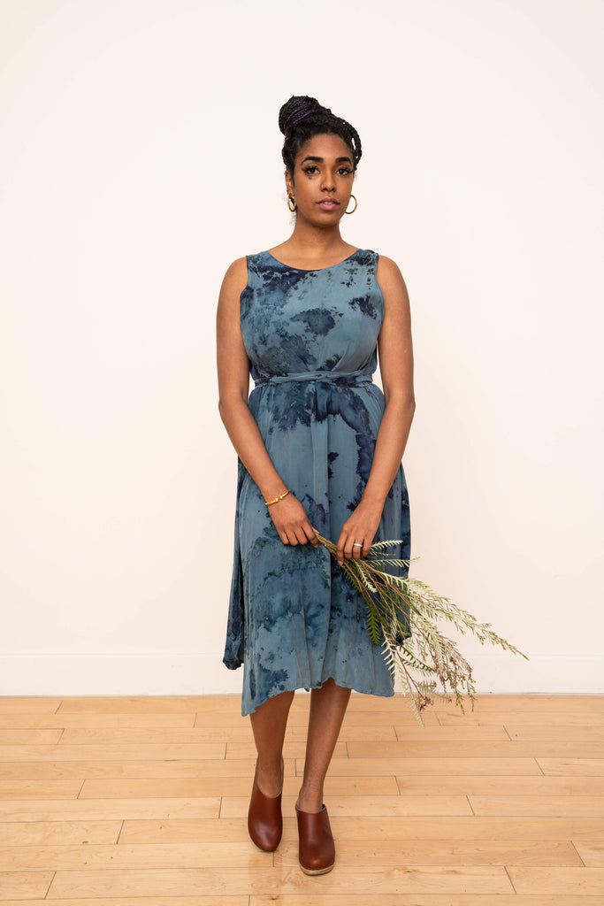 Riviera Wrap Dress in Hand Dyed Celadon